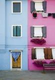 Улицы Burano, ориентир ориентира Венеции Стоковые Изображения