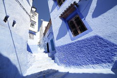 Улицы Chefchaouen Марокко Стоковое Фото