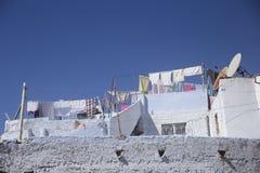 Улицы Chefchaouen Марокко Стоковые Изображения RF