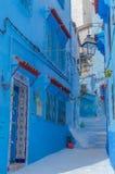 Улицы Chefchaouen Стоковое Изображение RF