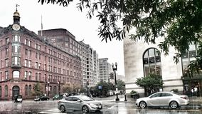 Улицы DC Вашингтона на дождливый день Стоковое Фото