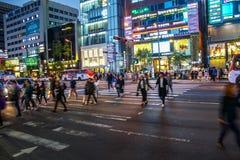 Улицы Gangnam, Сеул, Южная Корея стоковое фото