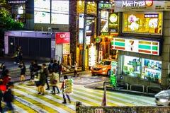 Улицы Gangnam, Сеул, Южная Корея стоковые фото