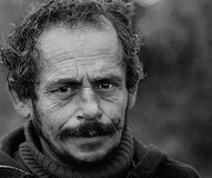 улицы prague бездомного изображения человека унылые Стоковое Фото