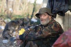 улицы prague бездомного изображения человека унылые Стоковое фото RF