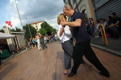 Улиц-танго в Монце 14-ого мая 2017 Стоковые Фото