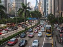 Уличное движение в Гонконге Стоковые Фотографии RF