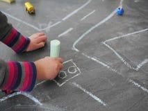 Уличное движение ребенк мела Стоковое фото RF