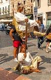 Уличные исполнители в Вероне стоковое фото