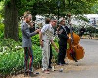 Уличные исполнители Нью-Йорка Central Park Стоковое Изображение