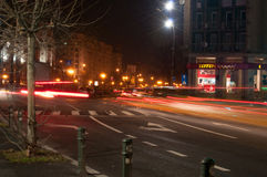 Уличные светы к ноча Стоковые Изображения