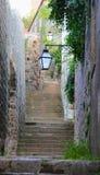 Уличные светы под лестницами Стоковое Изображение
