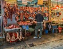 Уличные торговцы в Гонконге Стоковые Изображения RF