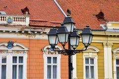 Уличные фонари на квадрате соединения Стоковое фото RF