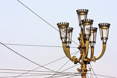 Уличные фонари старинной улицы Стоковое Фото