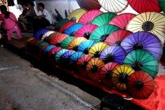 Уличный рынок вечера Стоковое Изображение RF