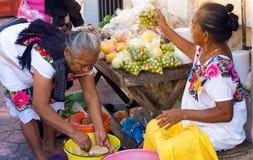 Уличный рынок в Вальядолиде Стоковые Изображения