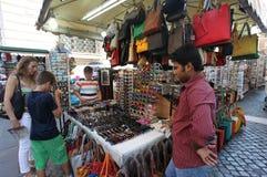 Уличный рынок в Риме Стоковое Изображение