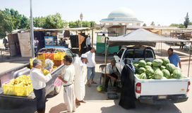 Уличный рынок в Al Huffay Bir Стоковое Изображение