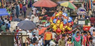 Уличный рынок Дели Стоковое Изображение