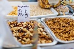 Уличный рынок еды в Испании Стоковое Фото