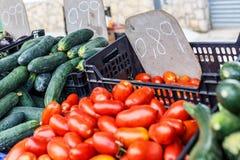 Уличный рынок еды в Испании Стоковые Изображения