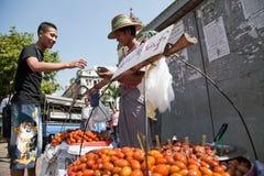 Уличный рынок Стоковое Изображение RF