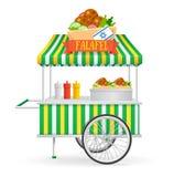 Уличный рынок Falafel вектор иллюстрация штока