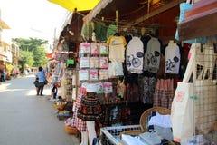 Уличный рынок Loei - ТАИЛАНД Chiang khan, 29-ое декабря - 2015 Стоковая Фотография