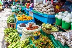 Уличный рынок, San Cristobal de Las Casas, Мексика стоковые фотографии rf