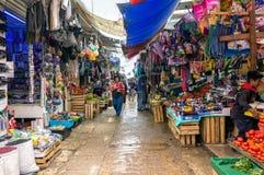 Уличный рынок, San Cristobal de Las Casas, Мексика стоковая фотография rf