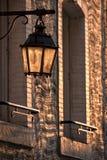 Уличный свет в заходе солнца Стоковые Фотографии RF