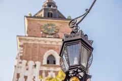 Уличный свет в Кракове, Польша Стоковые Изображения RF