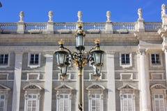 Уличный свет на королевском дворце Стоковая Фотография RF