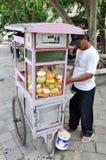 Уличный торговец Индонезии Стоковое Изображение