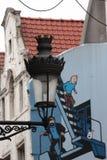 Уличный фонарь Брюсселя стоковое изображение
