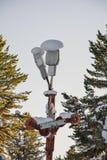 Уличный фонарь и снег Стоковое фото RF