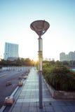 Уличный фонарь на восходе солнца Стоковое Фото