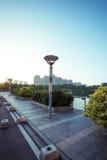 Уличный фонарь на восходе солнца Стоковые Фотографии RF