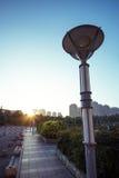 Уличный фонарь на восходе солнца Стоковые Изображения