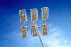 Уличный фонарь с 6 лампами Стоковые Фотографии RF
