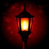 Уличный фонарь - фонарик на поляке Стоковая Фотография