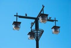 Уличный фонарь шарика Стоковые Фото