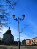 Уличный фонарь, Kamenets Podolskiy, Украина Стоковые Изображения