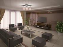 удобная живущая комната Стоковые Изображения
