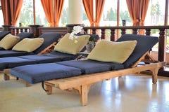 удобная спа loungers Стоковые Изображения RF