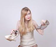 Удобные плоские ботинки Стоковая Фотография RF