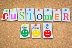 Удовлетворение клиента или оценка эффективности бизнеса стоковое фото rf