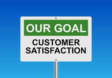 Удовлетворение клиента наша цель Стоковое Изображение RF