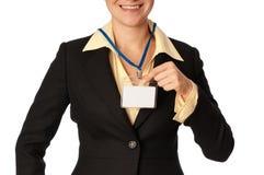 удостоверение личности карточки Стоковые Изображения